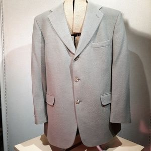 Camel Hair Sport Coat Tan Bill Blass Lined 46 Wool